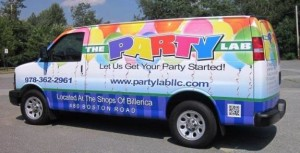 An image showing a van with a vehicle wrap from Sign Effects.