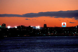 An image showing Boston's Citgo sign after sunset.